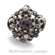 Historismus Stil Silber Ring Granat silver ring garnet Tracht en 835