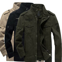 Autumn Men's Military Cotton Jackets Casual Collar Jacket Coat Parkas Outwear