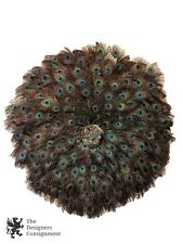 "47"" Handmade Decorative Hanging Natural Peacock Feather Wreath Bird Medallion"