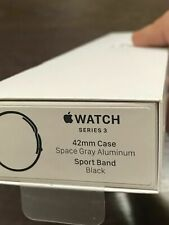 NEW! Apple Watch 3 (GPS, 42mm) Space Gray Aluminium Case Sport Band (MTF32LL/A)