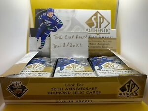 2018-19 SP Authentic Hockey Hobby 3 Pack Lot Pettersson/Hart/Svechnikov FWA?
