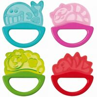 NEW Baby Teether with Rattle Soft Bite Teether Perfect Teething Soothing Toy 0m+