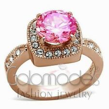 Diamond Rose Gold Simulated Costume Rings