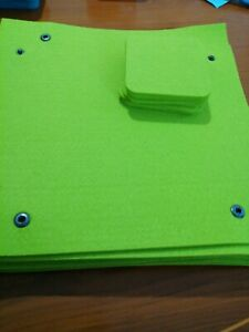 Set Of 9 Felt Interlocking Placemats And 8 Coasters Neon Green