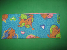Pencil Case- Cloth Zipper Pouch-Bag-Blue-Handmade from Scooby-Doo Fabric