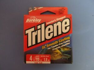 Berkley XLPS 4-15 4 Lb Trilene XL Monofilament Line 110 Yds Clear NEW