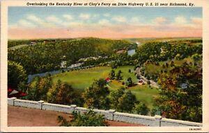 Vtg 1930's Clay's Ferry on Highway US 25, Richmond Kentucky KY Postcard