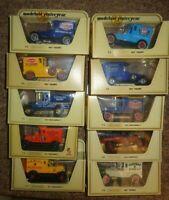 JOB LOT  Matchbox Yesteryear x 10 VANS & TRUCKS  STRAW  YELLOW BOXES NESTLE ETC