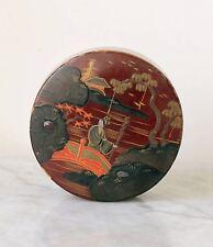 Antique 1920s JAPAN lacquer box, Japanese garden scene