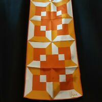 Neon 1970's Geometric Vera Neumann Rectangle Scarf (45 x 14)
