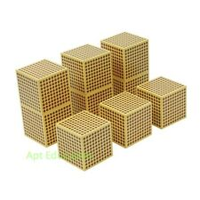 Montessori Math Toy - Golden Beads 9 Wooden Thousand Cube