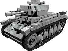 CUSTOM building INSTRUCTION for WW2 PANZER II TANK to build out of LEGO® parts