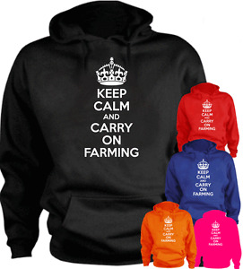 KEEP CALM AND CARRY ON FARMING  Present Gift New Hoodie