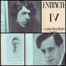 PROGRAMME THEATRE ENTR'ACTE N°4 -1927  LEOPOLD LE BIEN AIME J. SARMENT M. SIMON