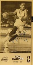 "AUTOGRAPHED B&W 4"" X 8"" PHOTO & NOTE>NBA>> RON HARPER>> LOS ANGELES CLIPPERS"