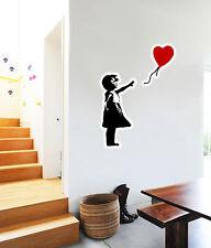 "Bansky Heart Wall Decal Large Vinyl Sticker 26"" x 19"""