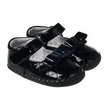 Baby Girl's Infant Toddler 'Party' Shoes Brown/Black Patent Leather Cruiser