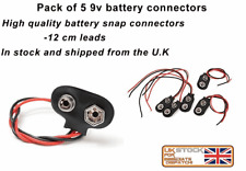 5 X PP3 9V Battery Snap on Clip Connector Cable Lead UK 9 Volt Holder