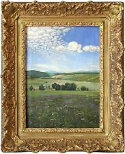 20th Century Hillside Landscape Oil Painting by Hungarian Artist Gyula Zorkoczy