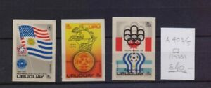 ! Uruguay 1975. Air Mail Imperforated Stamp. YT#A403/405. €40.00!