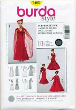 Burda 7485 Sewing Pattern Lovely Evening Gowns for Barbie. HUGE Saving