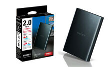 "SONY External Hard Drive 2TB 2.5""USB 3.0 High Speed Password Backup Black"