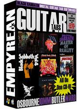 Black Sabbath OZZY Years Guitar Tabs CD-R Digital Lessons Software Windows Mac