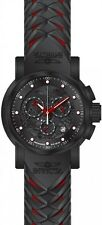 Invicta Men's S1 Rally Chrono Stainless Steel Black/Red Silicone Watch 21625