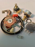 Wiring Harness Kit For Stratocaster CTS Oak Switchcraft .022uf Sprague 225P