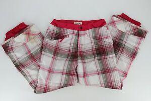 Cherokee Big Girls Snow Ski Pants Size Large 10/12 White Pink Plaid