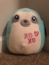 "8"" Squishmallows Aqua The Sloth plush kellytoy valentine's limited edition RARE"