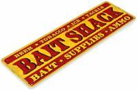 Bait Shack Fish Fishing Cabin Lake House Rustic Bait Decor Metal Sign
