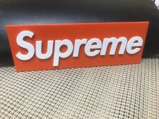 Supreme Inspired 3D Printed Sign
