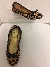 Kate Spade Faux Fur Animal Print Ballerina Flats Shoes 8M