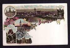 113590 AK Budweis um 1900 Litho Rathaus Stadtmauer Turm Schloss Frauenberg Domki
