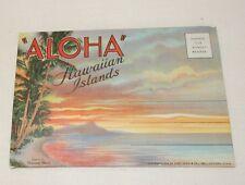 Vintage 1935 Souvenir Hawaii Foldout Folder Postcard picture pack WWII era