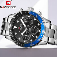NAVIFORCE Men's Watch Calendar Business Waterproof Military Quartz Wristwatch