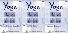 YOGA 3 PACK - BEGINNERS, FEELING STRONGER & HEALTHY BACK - YOGI MARLON -NEW DVDS