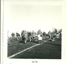 Photo Vintage Snapshot School Foot Ball Team Field Players Umpire 1954 p112#