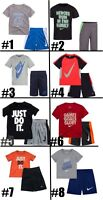 New Nike Little Boys Dri-FIT Shirt & Shorts Set Choose Size & Color MSRP $36.00