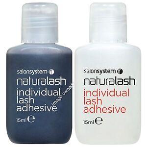 Salon System Semi-Permanent Individual Eyelash Adhesive Clear or Black Glue 15ml