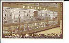 AY-137 - Pharmacy Montreal Store Interior Advertising Postcard, Canada 1901-07