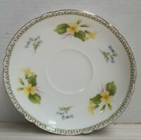 Vintage Shelley China Primrose Saucer c1945-66 Gilt Trim Made in England