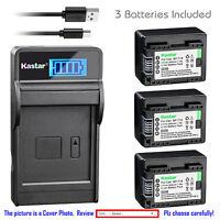 Kastar Battery LCD USB Charger for Canon BP-718 CG-700 Canon VIXIA HF R72 Camera