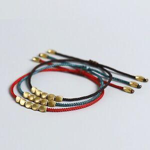 Tibetisches Glücksarmband Buddhistischer Schmuck Kupfer Perlen Armband Elegant