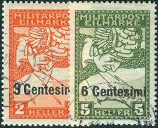 Österreich-ungarische Feldpost Ausgabe Italien Nr. 24-25 gestempelt