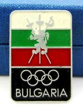 Olympic NOC Bulgaria  Fencing team Vintage Pin Very rare