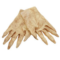Devil Latex Hands Halloween Adult Costume Accessory Gloves Fancy Dress Outfit DD