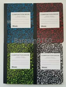 """2 Mini Marble Composition Book Set Note Pad College-Ruled Paper 4-1/2""""x3-1/4"""""""