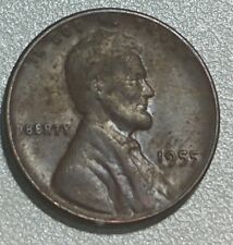 1955 Lincoln Wheat Cent. Poor Man's Double die.